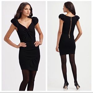 LEIFSDOTTIR Black Vortex Pucker 100% Wool Dress